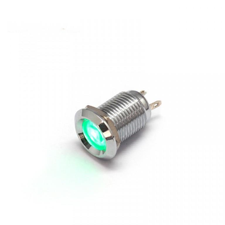 110v good price green led 12mm pilot indicator light lamp