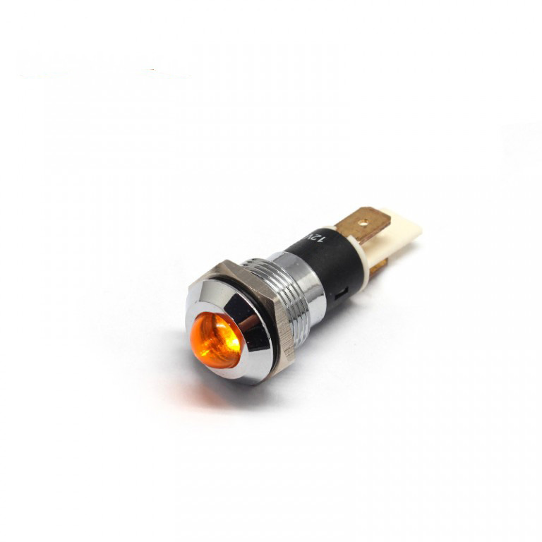 16MM 5/8 inch IP67 LED metal pilot lamp light