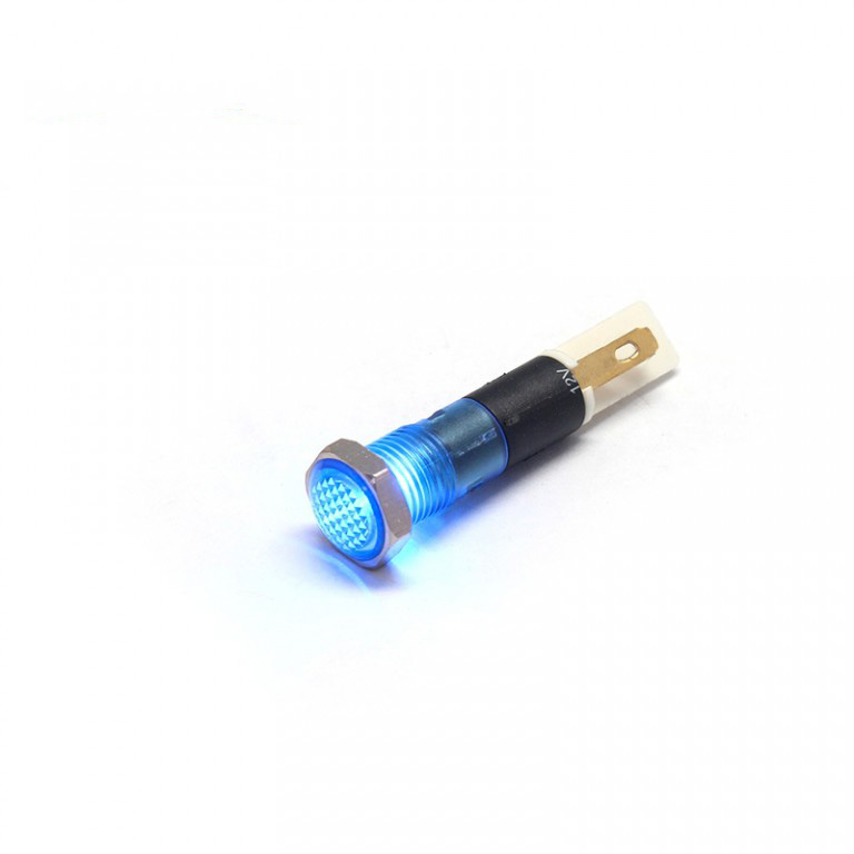 8MM 12V LED IP67 plastic light indicator